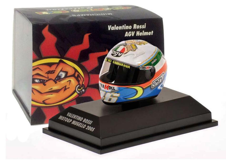 Minichamps Valentino Rossi Helmet - MotoGP Mugello 2005 1 8 Scale