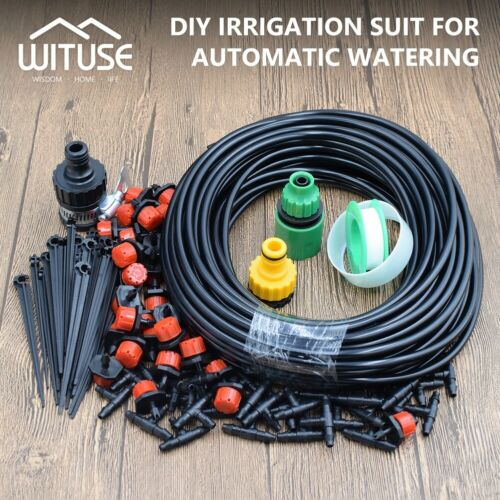 DIY Micro Drip Irrigation System Garden Flower Watering Hose Set /& Drippers 6FB