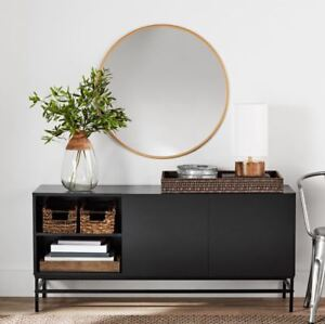 Etonnant Details About Smart TV Stand 4K Credenza Buffet Table Sideboard Storage  Console Table Black