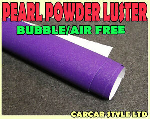 Pearl Powder Luster【PURPLE 500mm x 750mm 】Wrap Vinyl AIR FREE Vehicle Sticker car emblems Vehicle Parts & Accessories