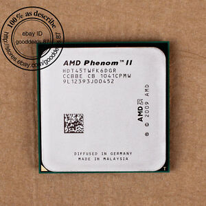 AMD-Phenom-II-X6-1045T-2-7-GHz-HDT45TWFK6DGR-Sockel-AM3-Six-Core-CPU-667-MHz