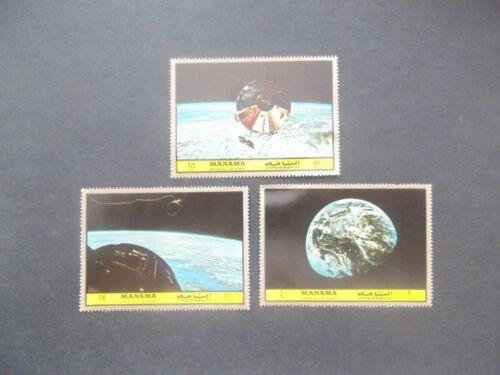 Manama-1972-Moon Exploration set-MNH