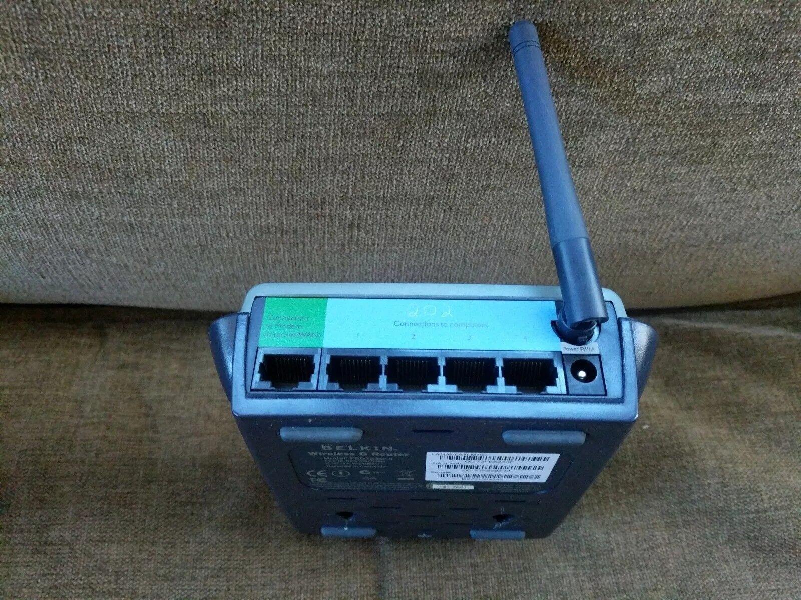 Belkin F5D7230UK4 54 Mbps 4-Port 10/100 Wireless G Router | eBay