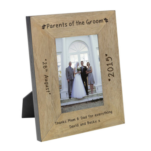 Personalised Engraved Gift Wedding Party Role Wooden Photo Frame 7x5