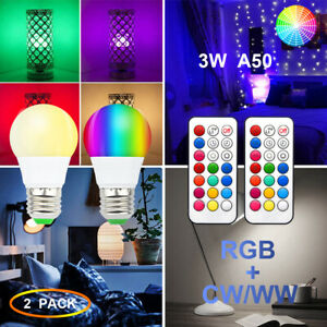 2x-RGB-Bulb-LED-Light-E27-12-Colour-Changing-Dimmable-Remote-Control-Screw-Lamp