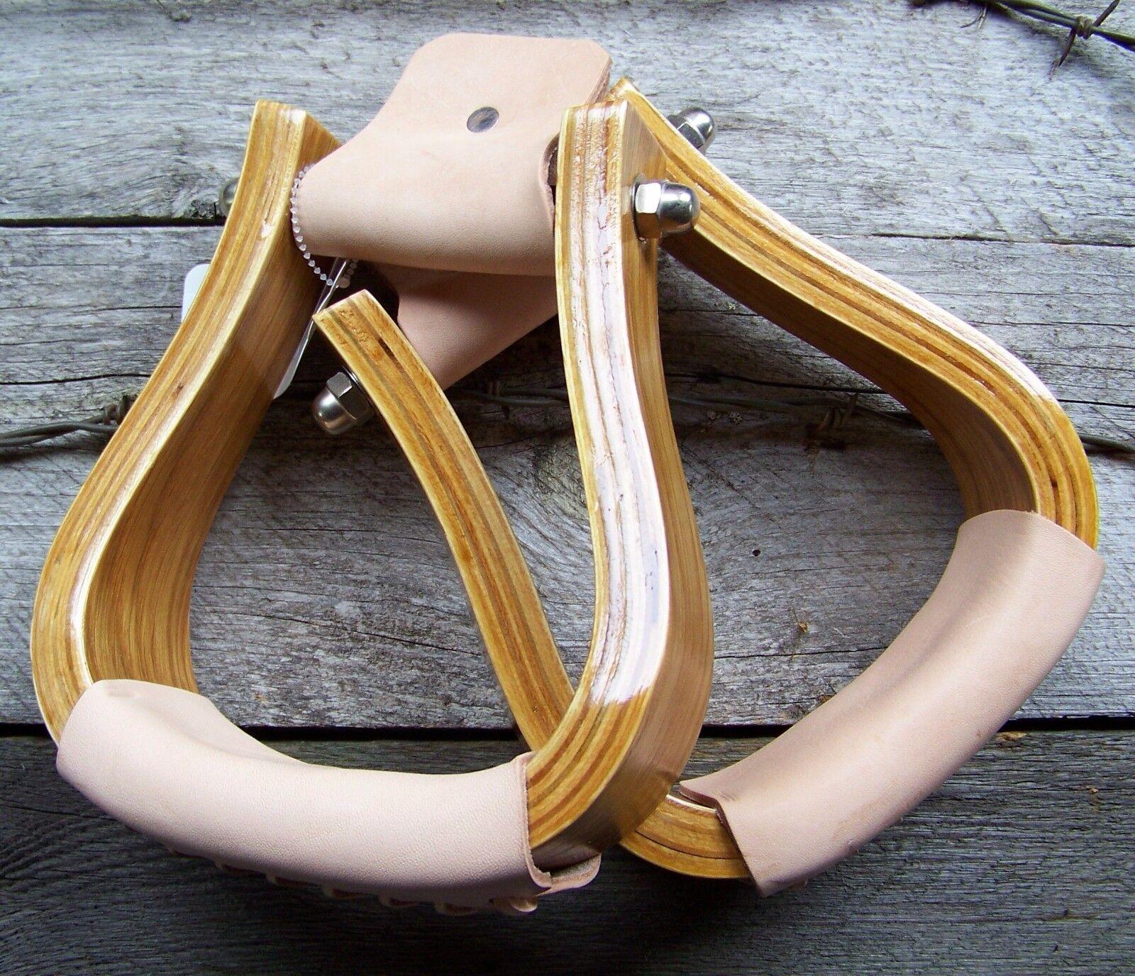 Stirrups - 2   Wooden Visalia  cheap