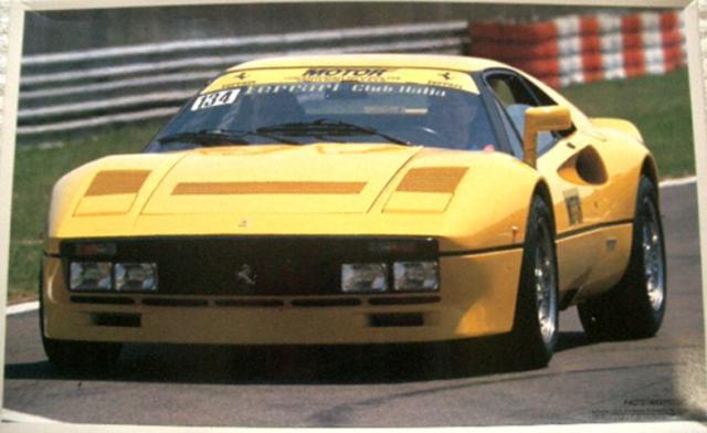 Fujimi 116 Scale Ferrari 288 Gto Yellow V8 Sport Car Model Kit 10125