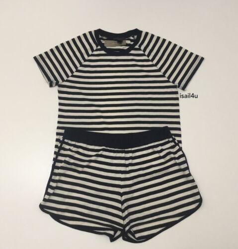 J.Crew Raglan-Sleeve Short Pajama Set In Stripe NWT Size L S M