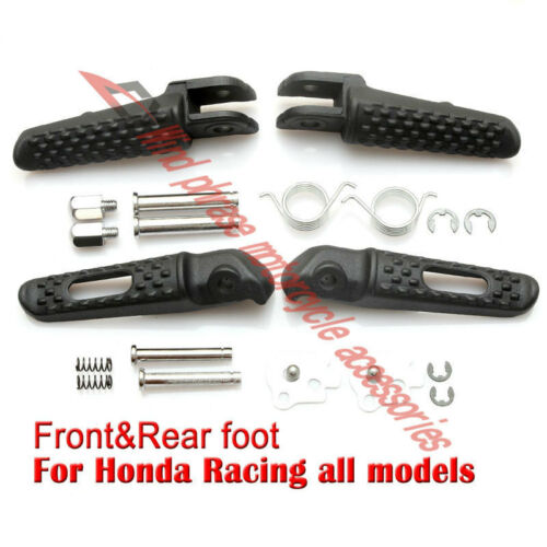 Front/&Rear Footrests Foot pegs For Honda CBR600 F4i F5 VFR800 CBR900 CBR925 954