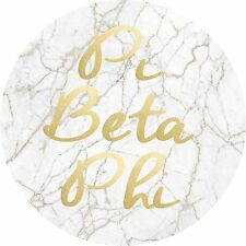 Pi Beta Phi Light Marble with Gold Script Sticker Decal