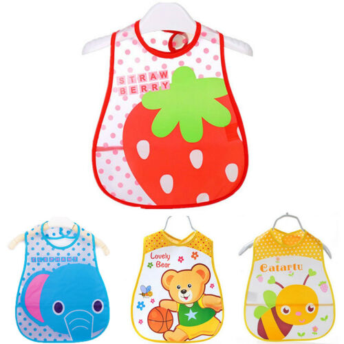 Baby Kids Boys Girls Waterproof Bibs Toddler Food Feeding Saliva Apron Bandana