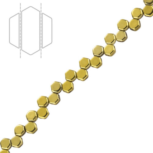 Nid d/'Abeille Czech glass 2 trous perles cristal plein AMBER 6 mm Pack de 30 K107//7