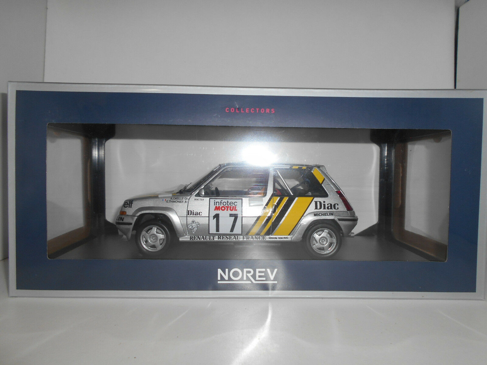 RENAULT 5 SUPERCINQ GT TURBO RALLY TOUR CORSE 1989 OREILLE NOREV 1 18