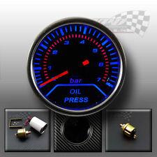 "Oil pressure gauge 2"" 52mm smoked dial face interior dash custom lighting"