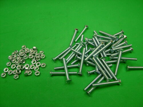 Machine screws with nuts M5 x 40 countersunk slot bolt bolts screw pack of 50