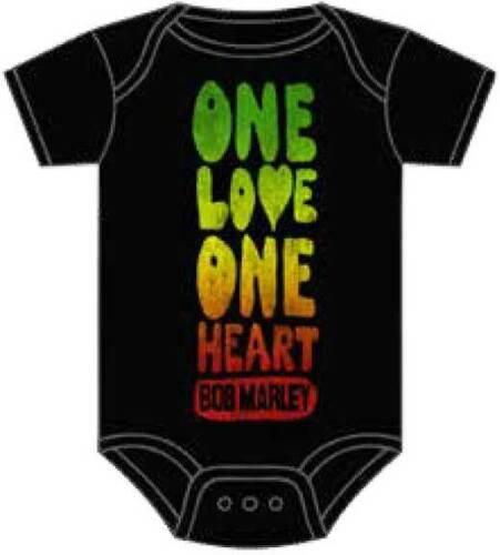 Zion Rootswear Bob Marley One Love One Herz Kleinkind Strampler Body ZRBM1210
