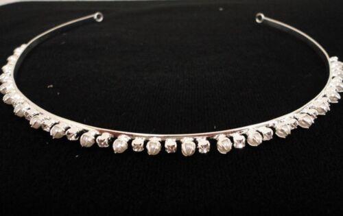 Thin Pearl Rhinestone Headband Elegant Headdress Hair Accessory C8029