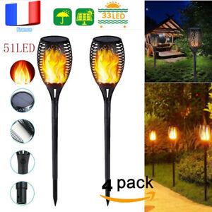 4pcs-51LED-Feu-Flamme-Solaire-Lumiere-Exterieur-Jardin-Paysage-de-Pelouse-Lampe