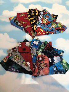 Marvel-handmade-Dog-Bandana-neckerchief-Collar-Lead-Retro-comic-Batman