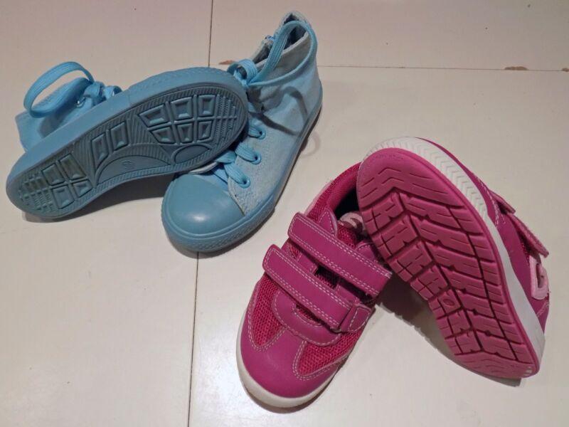2 Paar Kinder Schuhe Sportschuhe Turnschuhe Halbschuhe Stoffschuhe Gr. 28