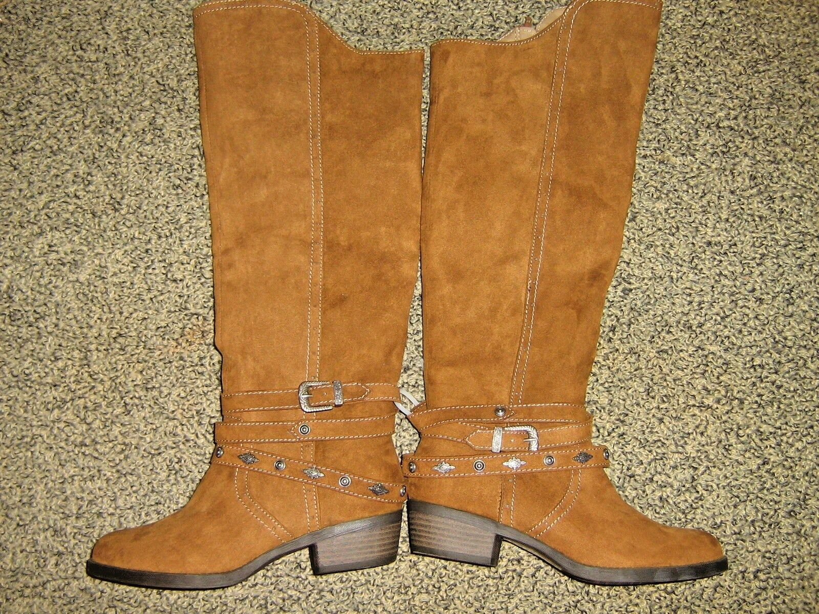 NWTS  MUDD  WOMENS sz 6 BROWN SUEDE fashion western  RIDING BOOTS shoes