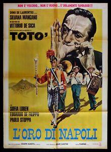 Werbeplakat Toto 'L' Gold Von Neapel S.Mangan V. De Sica De Filippo S.Loren M45
