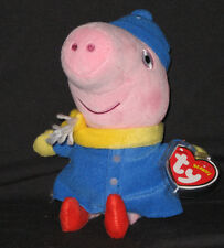 TY GEORGE (WINTER) PEPPA PIG BEANIE BABY - MINT with MINT TAGS - UK EXCLUSIVE