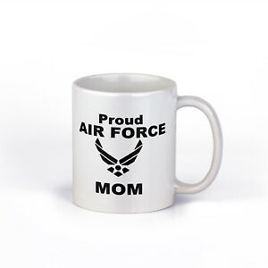 Proud Air Force Mom Cup | Military Mom Ceramic Coffee Mug | 11-Ounce Coffee Mug