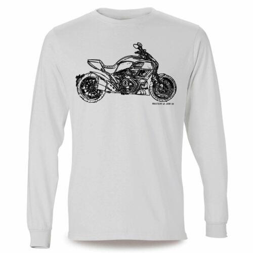JL Illustration For A Ducati Diavel Motorbike Fan LS-Tshirt