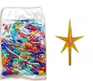 50 Replacement Ceramic Christmas Tree Large Twist Bulbs /& Iridescent Aurora Star