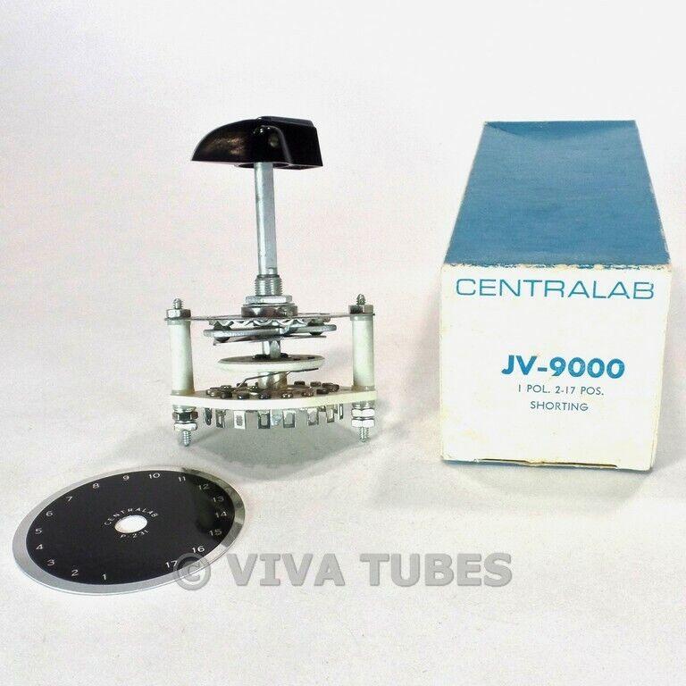 NOS Nib Centralab JV9000 Drehschalter mit 1 (Pol) 2-17 (Pos )