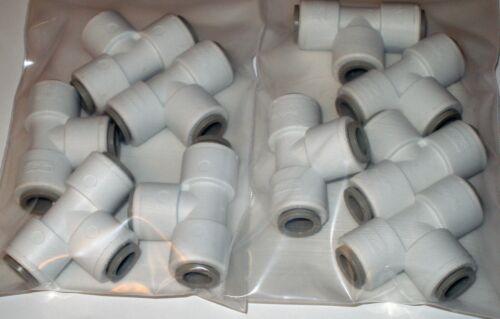 "Parker TrueSeal Parflex PP6TU6 3//8/"" Tee Food Grade Water Beverage Fitting Qty 10"