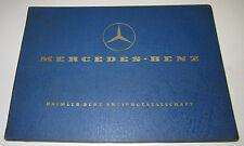Ersatzteilkatalog Mercedes LKW Typ OM 326 Motor Engine Spare Parts Stand 07/1962