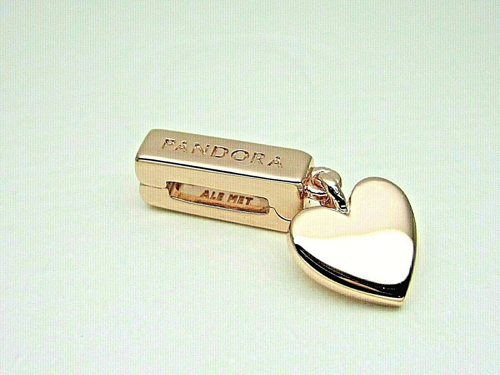 PANDORA 797643 Reflexions Shine Rose Floating Heart Clip Charm