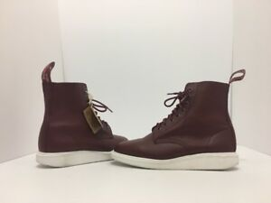 Dr Martens Whiton Unisex Lace Up Ankle Boots Cherry Red