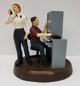 Pinkerton-Security-Statue-Figure-Rare-10Inch-Police-Guard-Computer