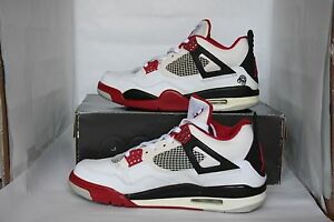 timeless design 8b2b1 ac07c Details about Nike Air Jordan IV 4 Retro Size 9.5 Used Spike Lee Mars  Blackmon 2006 Supreme