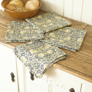 William Morris Pimpernel Cream Pack of 4 Floral Cotton Napkins