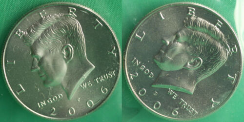 2006 P and D Kennedy Half Dollar Coin from US Mint Set 2 BU Cello Fifty Cent UNC