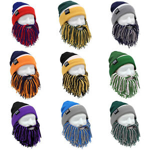 ad4039547 Details about Beard Head Tailgate Barbarian Football Knit Thermal Winter  Ski Mask & Beanie Hat
