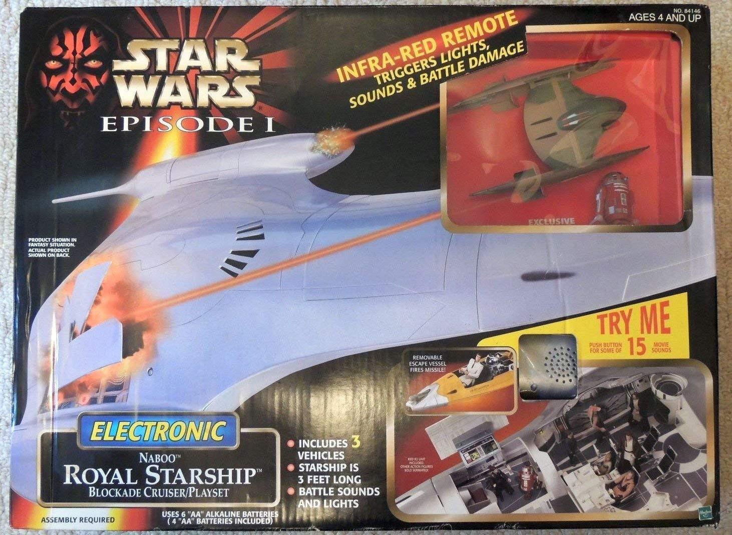 Star Wars Ep1 Reina Amidala Royal Starship bloqueo Cruiser