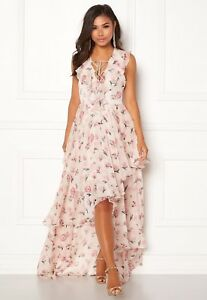866bf8dc761 Details about Y.A.S Most S/L Hi Lo Layered Floral Maxi Dress Size 10 Bnwt