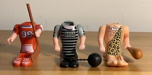 3-NEW-Pez-Body-Parts-1-LOOSE-BUT-NEW-Convict-Caveman-amp-Hockey-Player-Retired