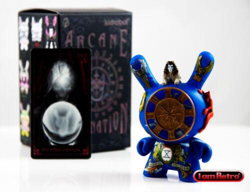 """Roue de la fortune-Arcanes Divination petit coin Series 3/"""" VINYL Figure Kidrobot nouveau"""