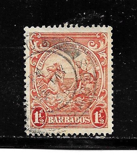 Barbados Stamp- Scott # 195/A21-1 1/2p-Canc/VLH-1938-47-NG