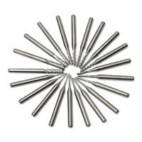 0.5-3.175mm Carbide End Engraving Drill Bits CNC PCB Dremel Jewelry Rotary Burrs