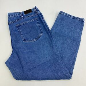 L-L-Bean-Denim-Jeans-Mens-42X32-Blue-Straight-Leg-Classic-Fit-100-Cotton-Wash