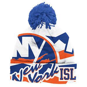 f6816330c Details about NEW YORK ISLANDERS 2014 NHL STADIUM SERIES REEBOK CENTER ICE  CUFFED POM KNIT HAT