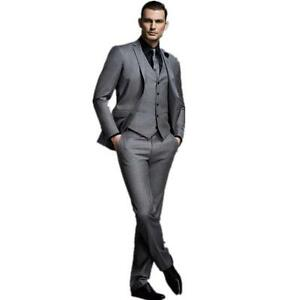 Image Is Loading New Gray Men 039 S Wedding Suits Groom