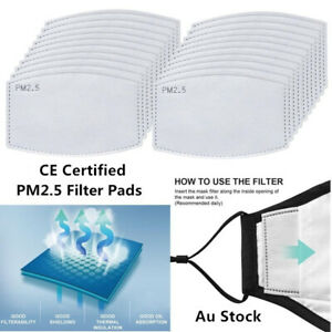 Adult PM2.5 Face Mask Filter Qualified Anti Pollution Filters Pad 5 Layers